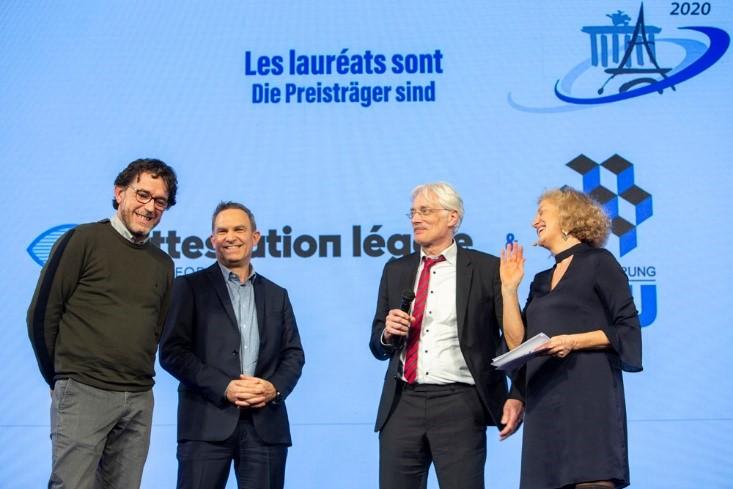 [ACTUALITÉ]:NFON France remet le Prix des Projets collaboratifs innovants dans le cadre des Prix Franco-allemands de l'économie et des secteurs culturels et créatifs.