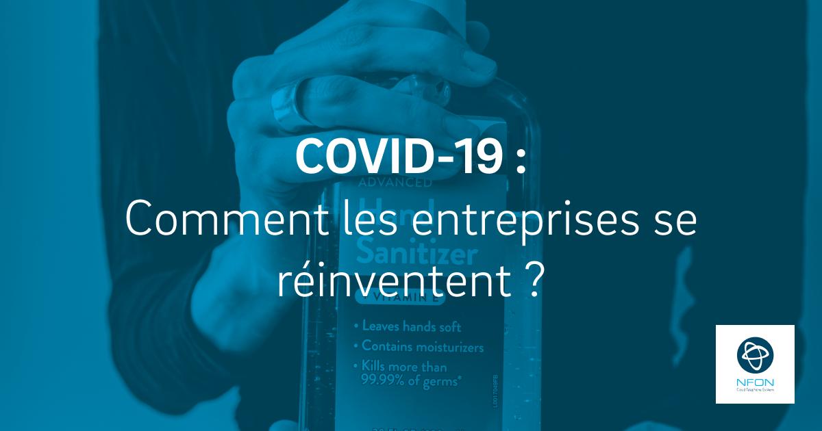 Covid-19: les entreprises se réinventent